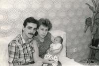 Jan Slezák with his family, 1983