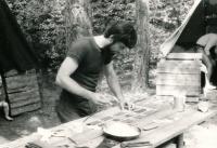 Jiří Zajíc na táboře, 80. léta