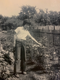 Markus Rindt as a child in the border area
