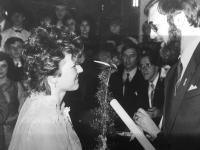 Monika Brázdová na maturitním plese
