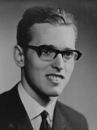 Radomír Malý in a graduation photo in 1965