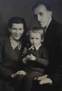 Radomír Malý with his parents Jan and Marie née Medková