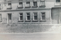 The family homestead in Kurovice. The picture was taken in the 1950s