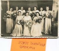 The wedding of Viera, 1949