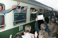 The arrival in the West1989 (Markus Rindt in the window)