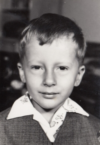 Miroslav Blažek, 5 years old, Nová Paka, 1971