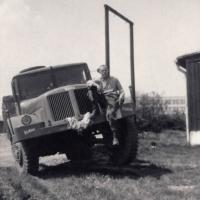 Jan Kreysa s Tatrou 111. Základní vojenská služba u silničního vojska