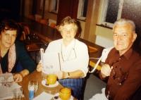 K. Hrubý with the sociologist, Jiřina Šiklová (left)