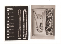 Samples of original jewelery produced in the witness's father's plant