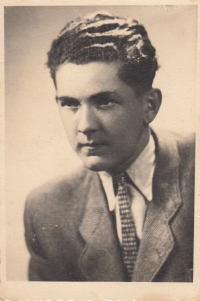 Bother Jan Liška at the time, when he apprenticed a cook in the hotel Znamenáček in Tábor (in 1947 or1948)
