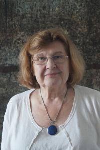 Milena Jelinek, June 2019, in her flat in Manhattan