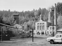 Dark mine in vintage photography