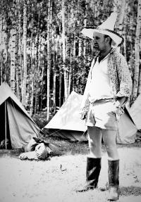 On a youth expedition near Záhorský pond (1964)