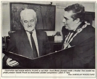 In 1995 K. Hrubý became an honorary citizen of the City of Pilsen