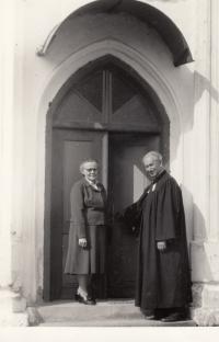 Anna and Antonín Balabán (Daniel's grandparents) in Zábřeh na Moravě
