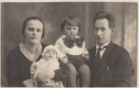 Daniel's grandparents Anna and Antonín Balabán with children