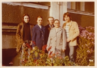 Daniel Balabán with parents, brother and grandmother from his mother's side. Ostrava-Hrabůvka around 1972