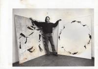 Daniel Balabán at the opening of Gallery Sokolská 26, photo by Alexandr Satinský. Ostrava, 1997