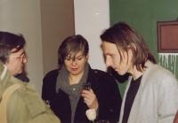 Daniela Balabán with art historians Jana and Jiří Ševčík - Prague, 1993
