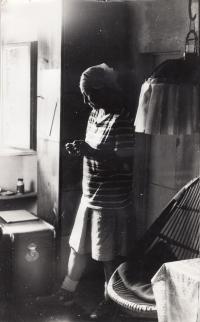 Painter Milada Schmidtová Čermáková (Daniel Balabán's aunt) -Vysočina, 1976