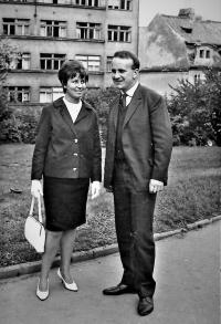 With wife Radana (1965)