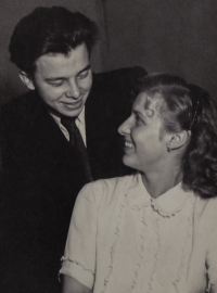 With her brother Vlastimil