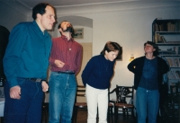 Christian meetings at the parsonage in Nová Paka, early 1990s