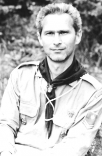 Lubomír as a scout in 1968