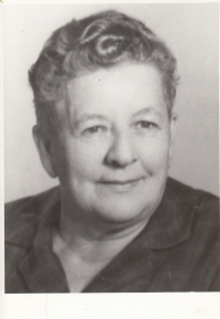 The mother of the witness, Marie Lišková, in 1973