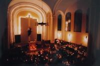 Modlitba Taizé v Prostějově v 90. letech