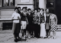 Teachers of the Choceň Primary School, 1978, (Naděžda is on the far left)