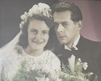 Naděžda and Josef Halásek, their wedding 1949
