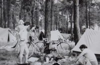 A sleepover at Colbitz, a cycling trip to East GErmany, July 1967