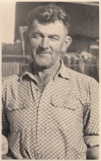 A father, Jan Liška, after returning from prison (it is obvious from the photo that he lost his teeth during imprisonment)