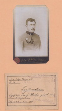 Vlastimil Úlehla's father Josef in the army (Austria-Hungary)