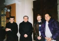 Miroslav Blažek with František Jindřich Holeček, early 1990s