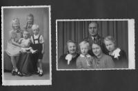 Rudolf Hüttner als Kind mit seiner Familie und Geschwistern