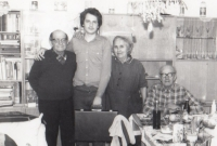 With parents and grandparents from his father's side, Nová Paka, 1985