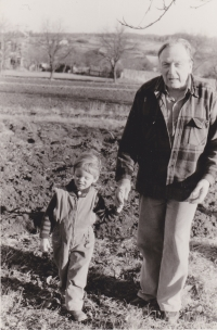 Sergej Machonin with his son Honza, who is a renown journalist and Russian studies scholar.