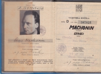 Sergej Machonin's soldier document