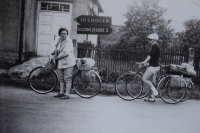 Cyclists, almost at home from the East Germany, 1967