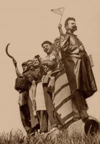 """Living statue """"Stalin Monument"""", Česká Bělá (1955)"""