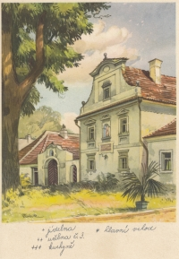 Regional children's home in Zeyerovy Sady in Vodňany, so-called old building, a contemporary postcard