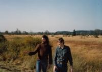 S Jiřím Rumlem v Belgii v Ardenách, říjen 1989.