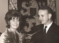 Civil marriage with Radana Fürstová, Prague  (1965)