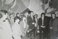 Priests being ordained in Poland, Ołtarzew Mazowiecki, 1986, with Josef Poštulka (in the centre) and believers from Prostějov