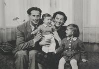 Světluše Košíčková (on the right) with her parents, Luděk and Miloslava Skála, and her brother
