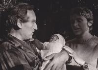 Sergej a Drahoslava se svojí dcerkou Terezkou