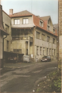 Family factory in Jirchářská street no. 50 in Železný Brod at the beginning of 1990s