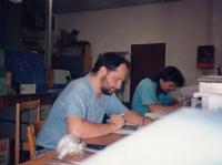 Work in the ZPA company, Nová Paka, early 1990s